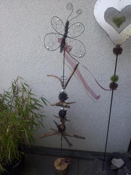 Schmetterlinge oder Libelle aus Draht!